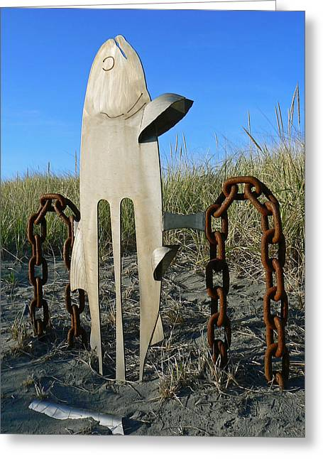 Breezy Greeting Cards - Beach Art Greeting Card by Pamela Patch