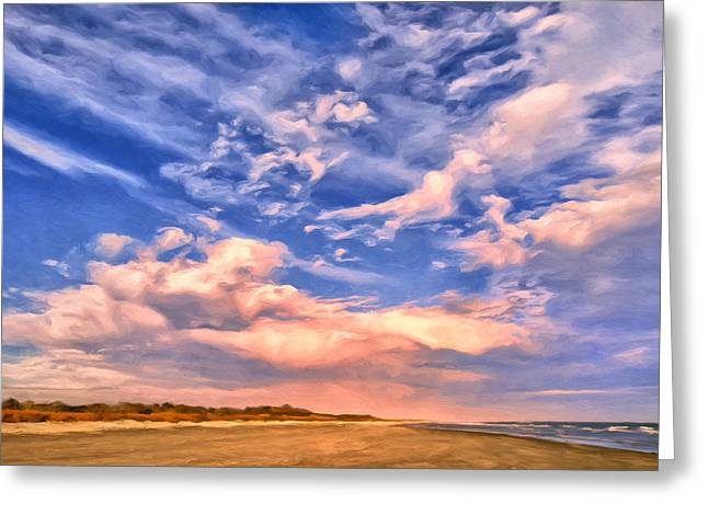 Beach At Sullivan's Island Greeting Card by Dominic Piperata