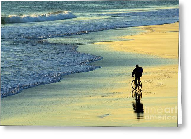 Relaxed Greeting Cards - Beach Biker Greeting Card by Carlos Caetano
