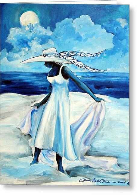 Gullah Art Greeting Cards - Beach Blues Greeting Card by Diane Britton Dunham