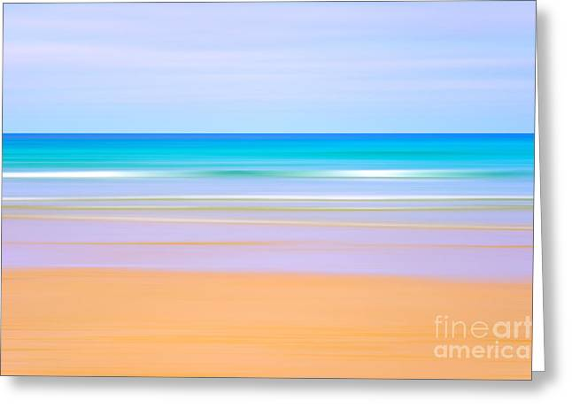 Sunny Beach Waves Greeting Cards - Beach blur Greeting Card by Richard Thomas