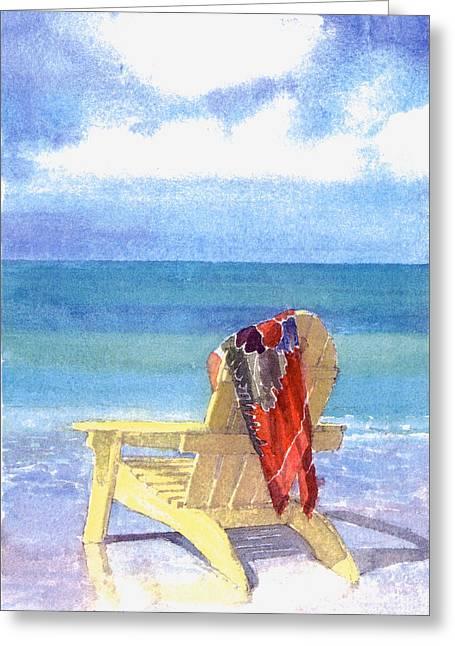 Beach Chairs Greeting Cards - Beach Chair Greeting Card by Shawn McLoughlin