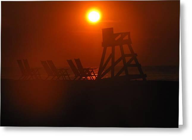Shane Brumfield Greeting Cards - Beach Chair Silhouette 1 Greeting Card by Shane Brumfield