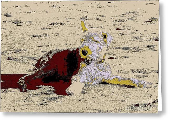 Beach Dog 7 Greeting Card by Nina Kaye