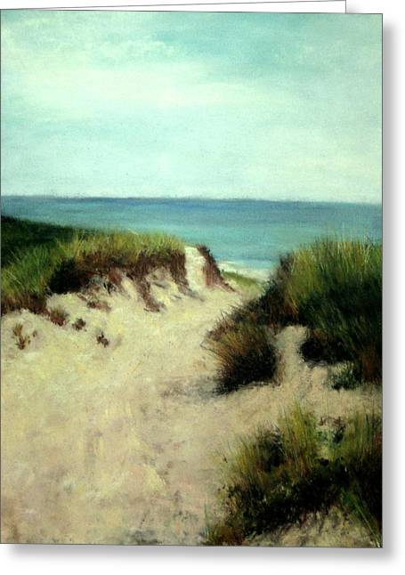 Cindy Plutnicki Greeting Cards - Beach Dunes Greeting Card by Cindy Plutnicki