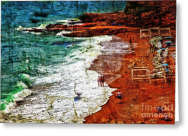 Beach Fantasy Greeting Card by Madeline Ellis