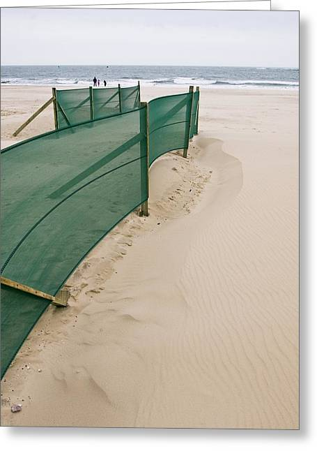 Sand Fences Greeting Cards - Beach Fence Greeting Card by Adrian Bicker