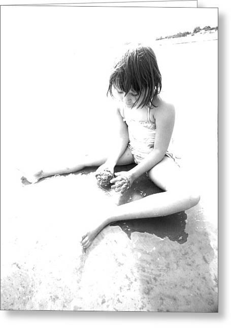 Beach Girl Greeting Card by Davo Paul