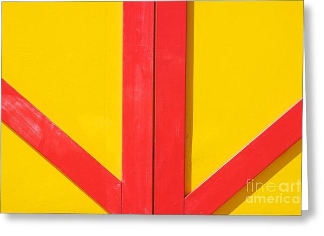 Brighton Beach Greeting Cards - Beach House - Red lines II Greeting Card by Hideaki Sakurai