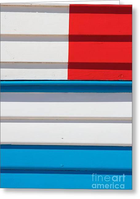 Tricolore Greeting Cards - Beach House - Tricolore II Greeting Card by Hideaki Sakurai