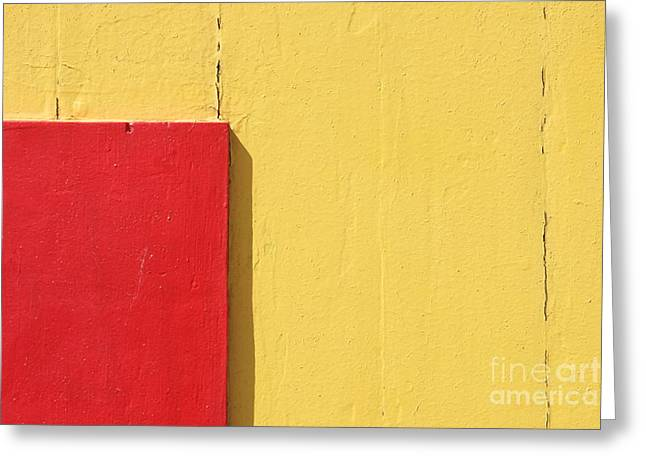 Brighton Beach Greeting Cards - Beach House - Yellow and Red Greeting Card by Hideaki Sakurai