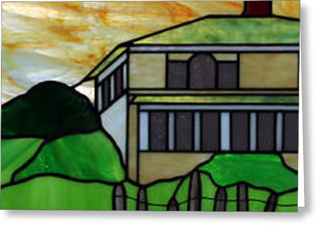 Beach House Glass Art Greeting Cards - Beach House Greeting Card by Jane Croteau