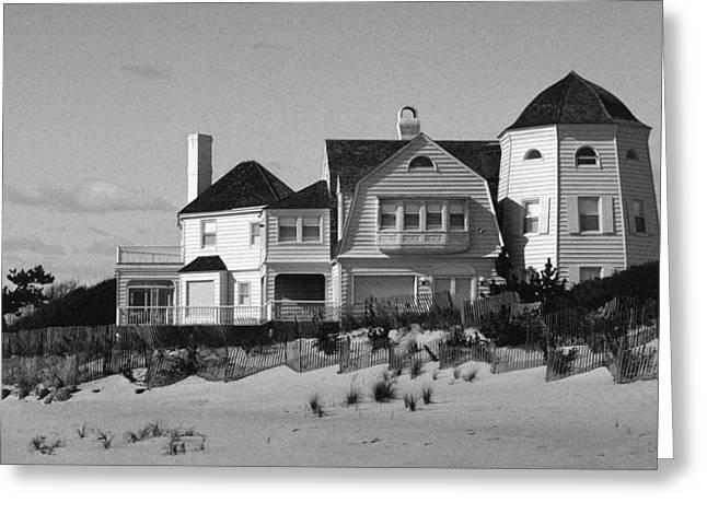 Beach House Greeting Card by Mark Greenberg