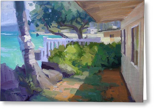 Haleiwa Greeting Cards - Beach House Greeting Card by Richard Robinson