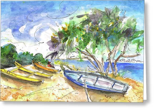 Beach In Ayia Napa Greeting Card by Miki De Goodaboom