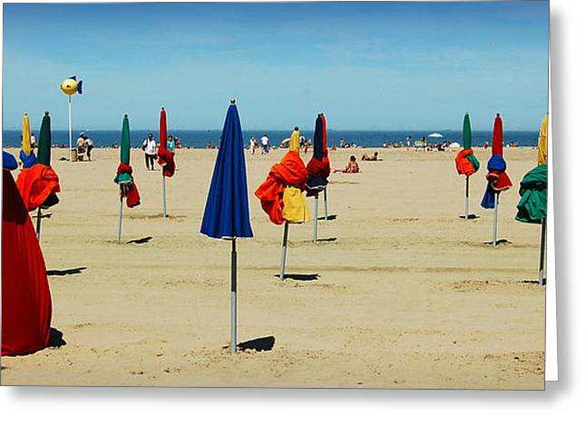 Calvados Greeting Cards - Beach in Deauville Greeting Card by RicardMN Photography