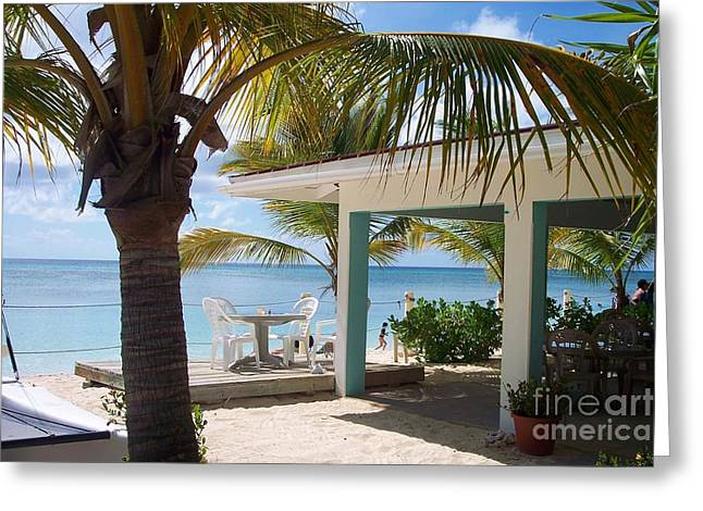 Beaches Greeting Cards - Beach in Grand Turk Greeting Card by Debbi Granruth