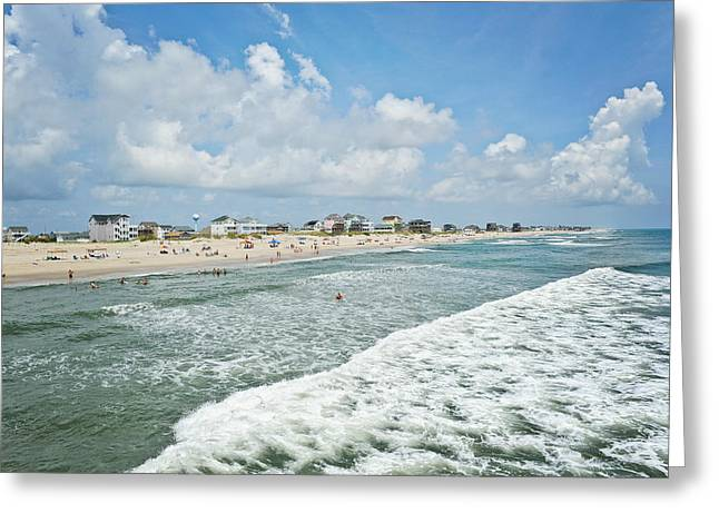 Rodanthe Greeting Cards - Beach in Rodanthe Greeting Card by Kelley Nelson