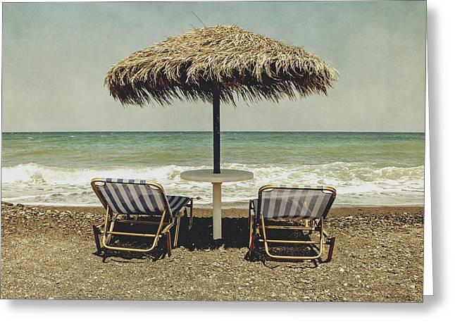 Bathe Greeting Cards - Beach Greeting Card by Joana Kruse