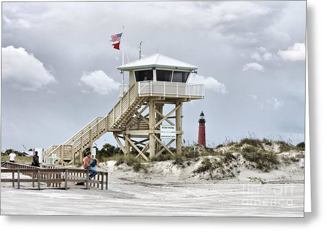 Florida House Greeting Cards - Beach Patrol Greeting Card by Deborah Benoit
