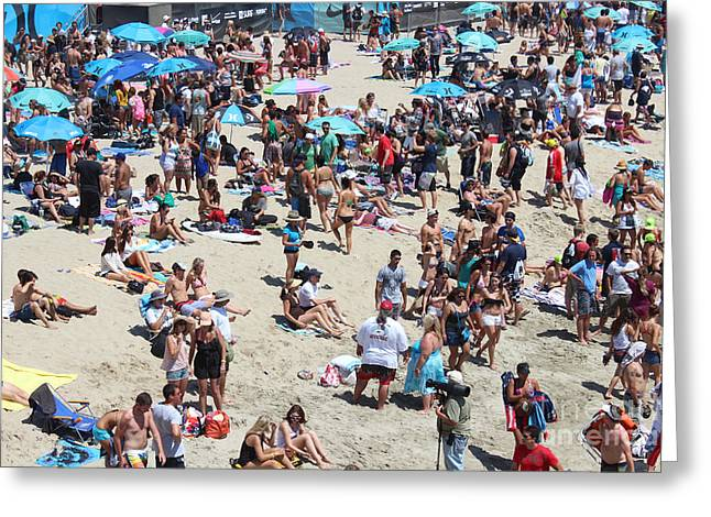 Kelly Slater Greeting Cards - Beach People Greeting Card by RJ Aguilar
