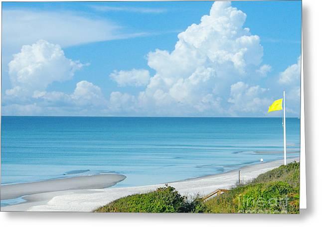 Florida Panhandle Digital Art Greeting Cards - Beach Perfect Day Greeting Card by Lizi Beard-Ward