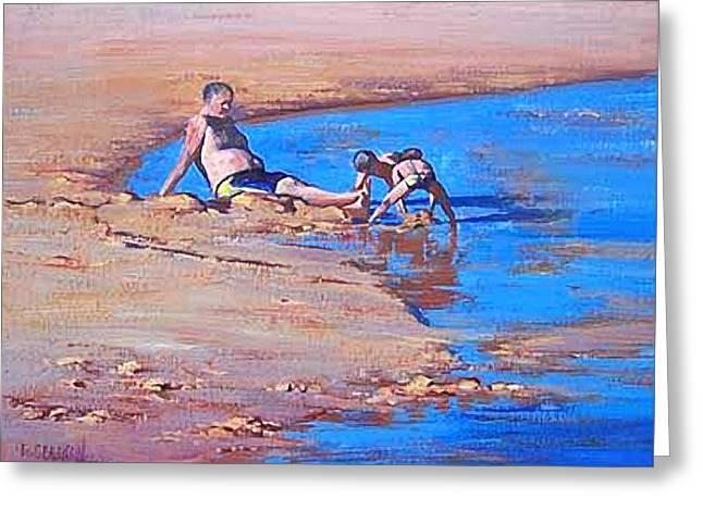 Beach play Greeting Card by Graham Gercken