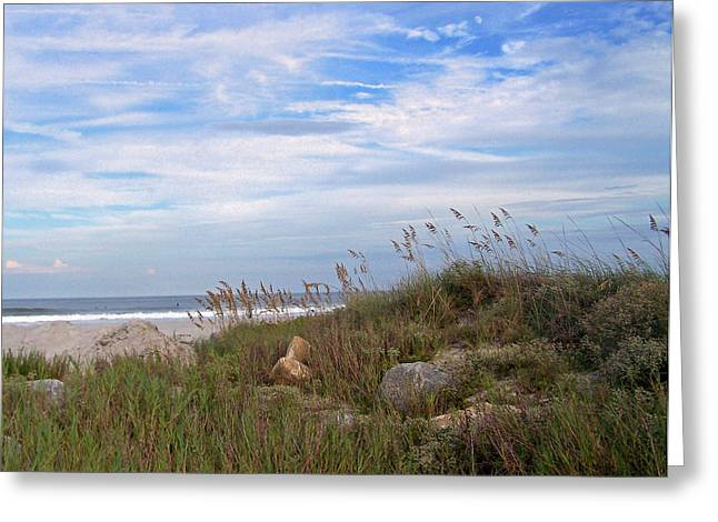 Beach Rocks Greeting Card by Patricia Taylor