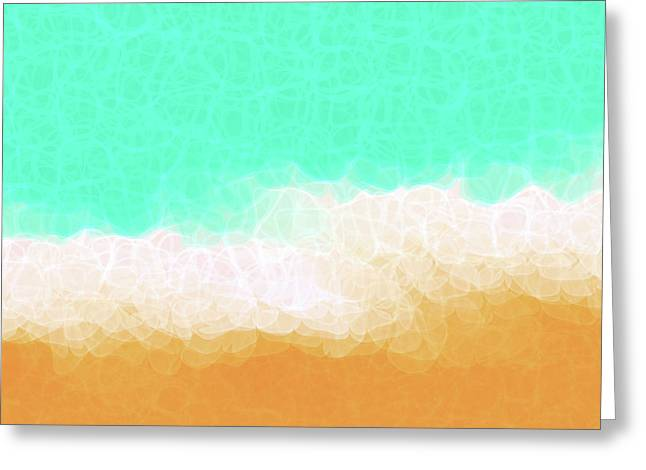 Huge Art Greeting Cards - Beach Scene One Greeting Card by Mark Lawrence