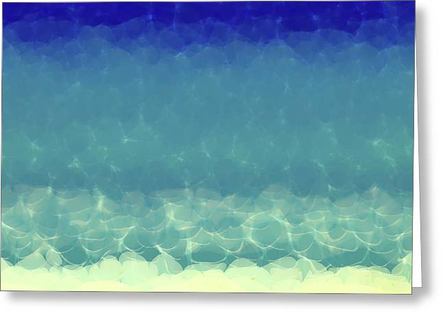 Sand Art Greeting Cards - Beach Scene Two. Modern Decor Collection Greeting Card by Mark Lawrence