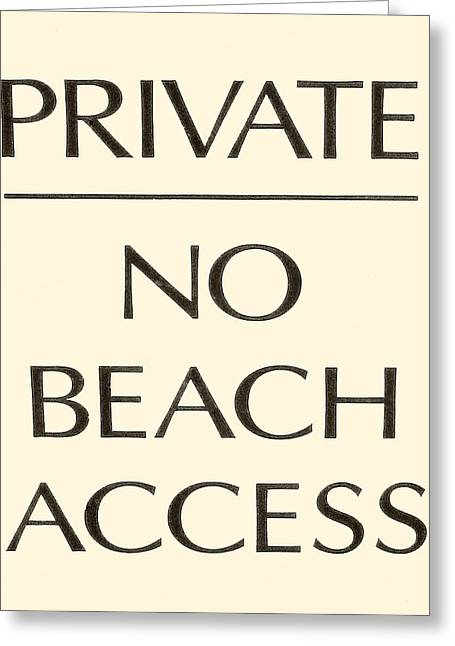 Party Invitations Greeting Cards - Beach Sign Greeting Card by Tony Grider