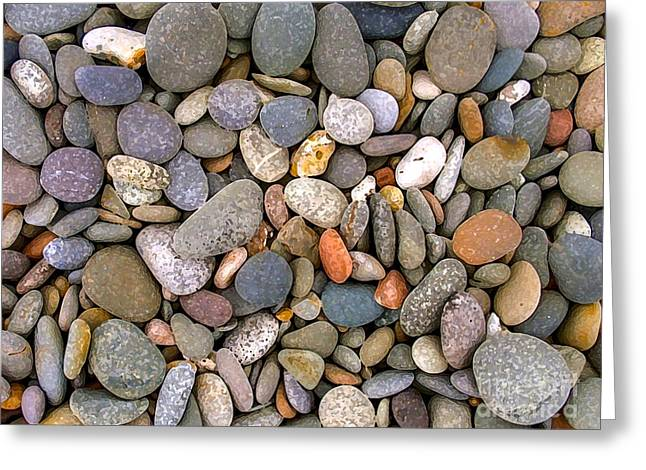 Stone Greeting Cards - Beach Stones And Pebbles Greeting Card by Sophie De Roumanie