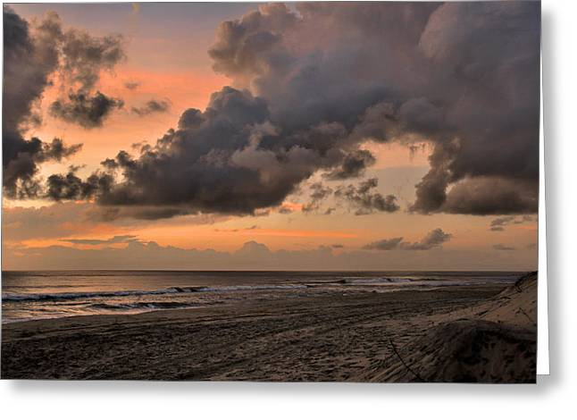 Beach Sunrise Obx  - C0983d Greeting Card by Paul Lyndon Phillips