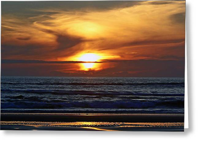 Beach Sunset  Greeting Card by Pamela Patch