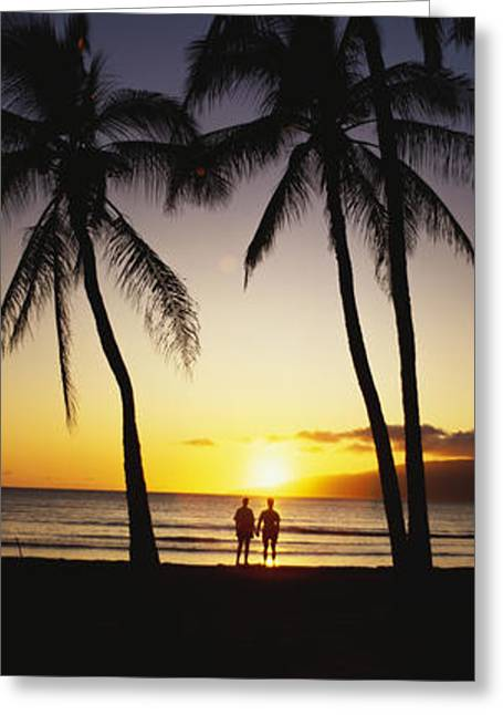 Thin Greeting Cards - Beach Sunset Panorama Greeting Card by Bill Schildge - Printscapes