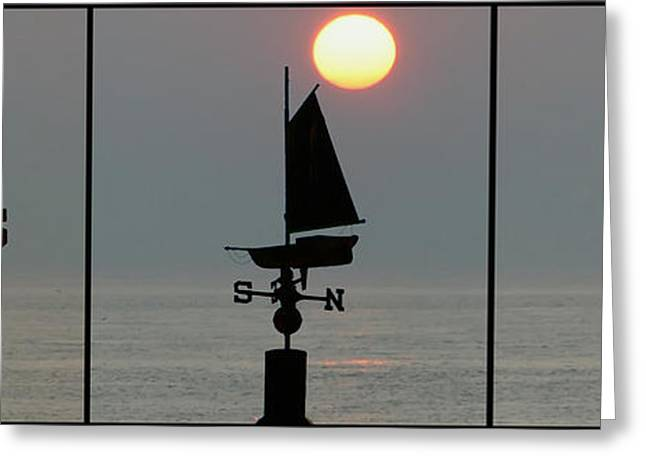 Weathervane Digital Art Greeting Cards - Beach Weather Greeting Card by Bill Cannon