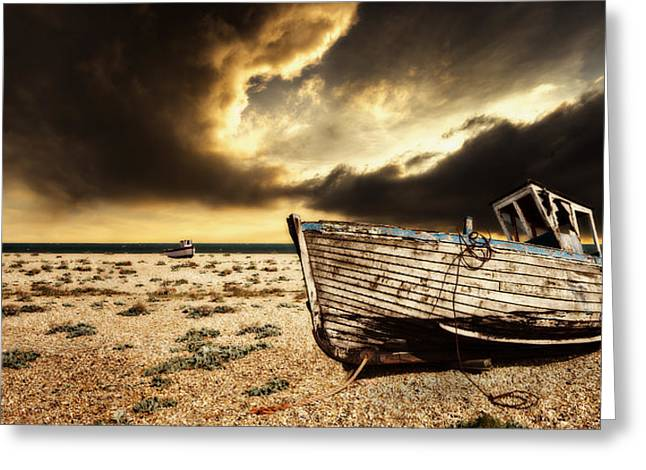 Beached In Color Greeting Card by Meirion Matthias