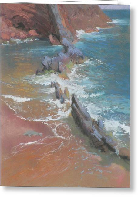 ; Maui Pastels Greeting Cards - Beached Greeting Card by Reif Erickson