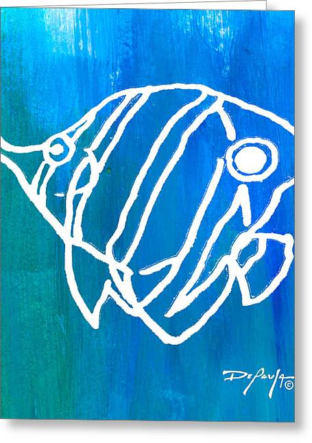Reef Fish Mixed Media Greeting Cards - Beachside Reef Fish Greeting Card by William Depaula