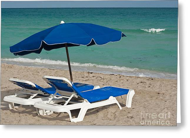 Chaise Greeting Cards - Beachtime Greeting Card by Barbara McMahon