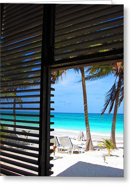 Boca Paila Greeting Cards - Beachview from the Room Greeting Card by Jan Maizler
