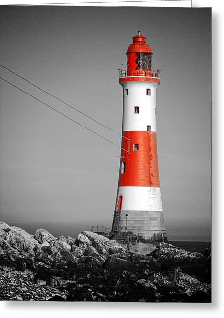 Beach Decor Posters Greeting Cards - Beachy Head Lighthouse Greeting Card by Mark Leader