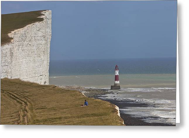 Vertigo Greeting Cards - Beachy Head Greeting Card by Maj Seda