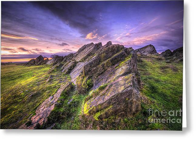 Hdr Landscape Greeting Cards - Beacon Hill Sunrise 10.0 Greeting Card by Yhun Suarez