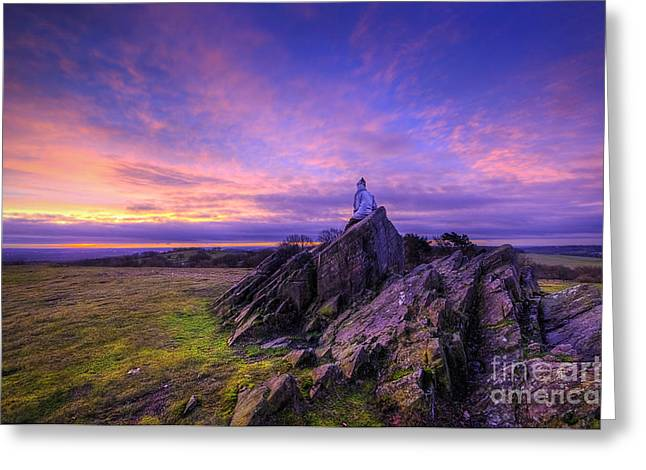 Hdr Landscape Greeting Cards - Beacon Hill Sunrise 2.0  Greeting Card by Yhun Suarez