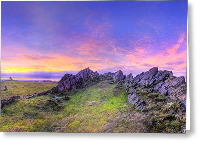 Hdr Landscape Greeting Cards - Beacon Hill Sunrise 3.0 Pano Greeting Card by Yhun Suarez