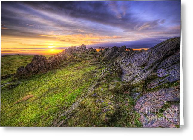 Hdr Landscape Greeting Cards - Beacon Hill Sunrise 5.0 Greeting Card by Yhun Suarez