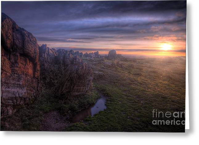 Hdr Landscape Greeting Cards - Beacon Hill Sunrise 6.0 Greeting Card by Yhun Suarez