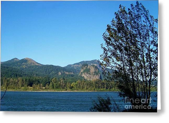 Bonneville Nationals Greeting Cards - Beacon Rock Greeting Card by Charles Robinson