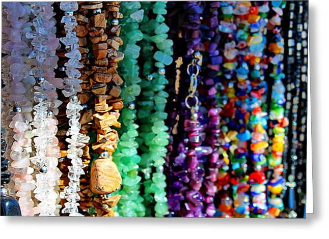 Beaded Necklace Greeting Cards - Beads Greeting Card by Russ Harris